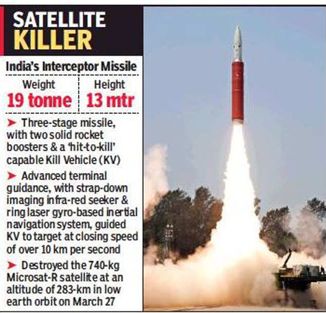 ASAT missile: Satellite-killer not a one-off, India working