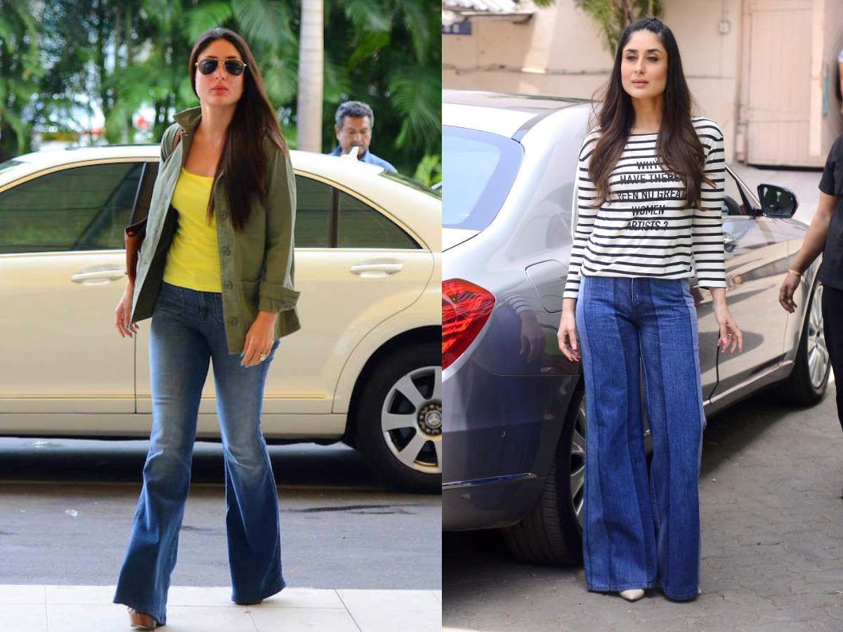 How to wear flared jeans like Kareena Kapoor - Times of India