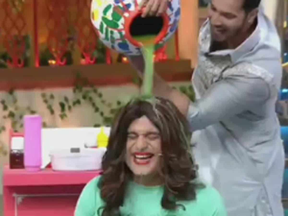 The Kapil Sharma Show: Varun Dhawan gives massage to Sapna