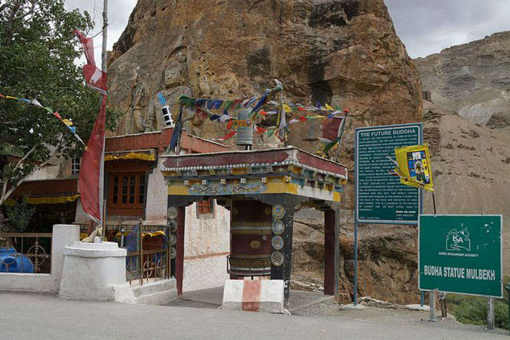 Why the statue of Maitreya Buddha in Kargil has been an attractive sight for tourists?