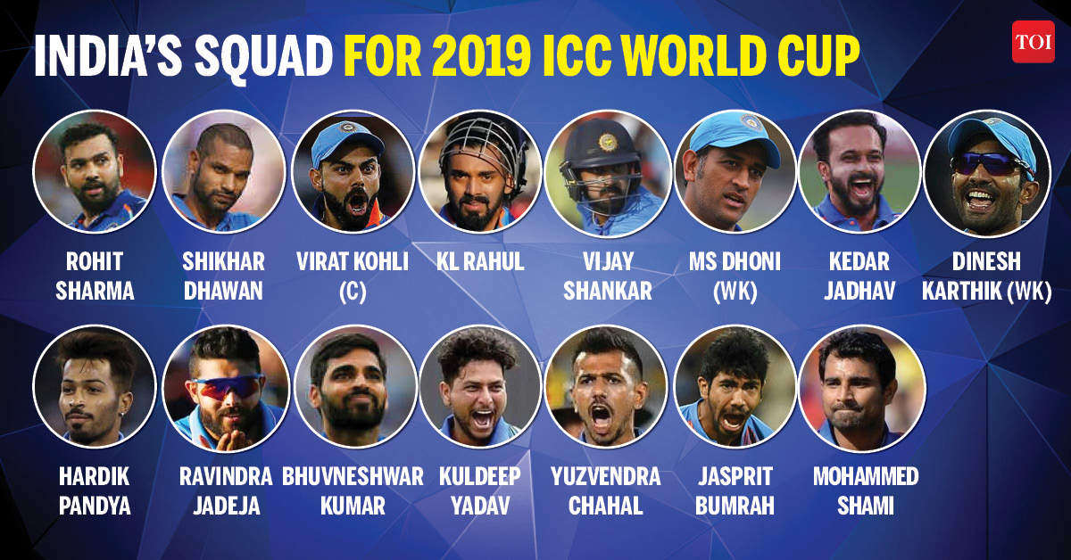 world cup 2019 indian squad dinesh karthik makes cut rishabh pant ignored in india s world cup team 2019 cricket news times of india