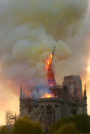 Notre Dame in flames, history at stake; saved from 'total destruction'