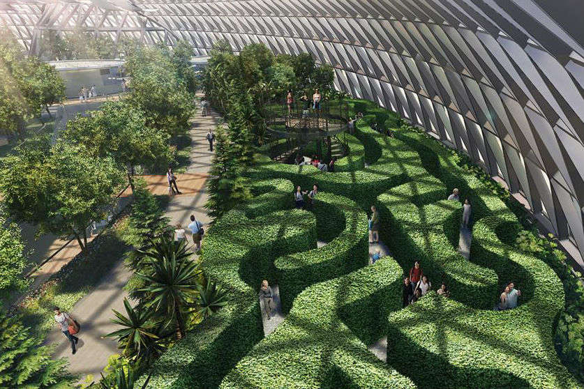Singapore's Jewel Changi Airport gets the world's tallest indoor waterfall
