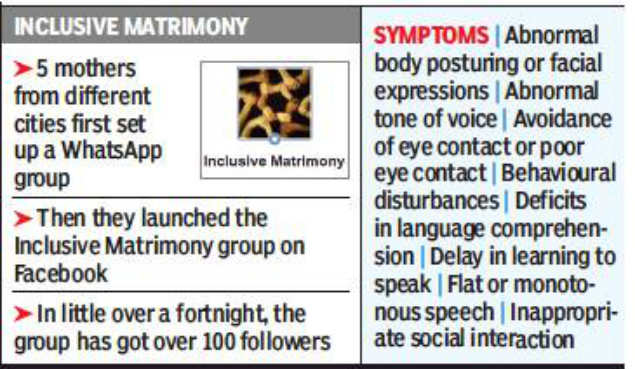 Mumbai: Moms start online matrimony page for autistic sons | Mumbai