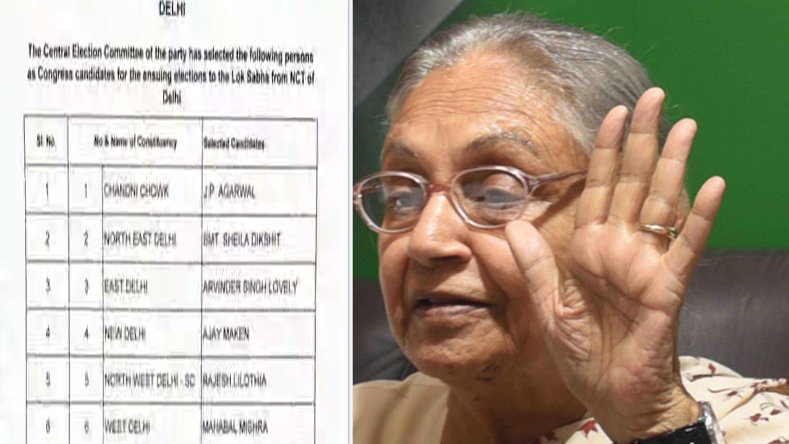 congress-announces-candidates-for-lok-sabha-polls-in-delhi