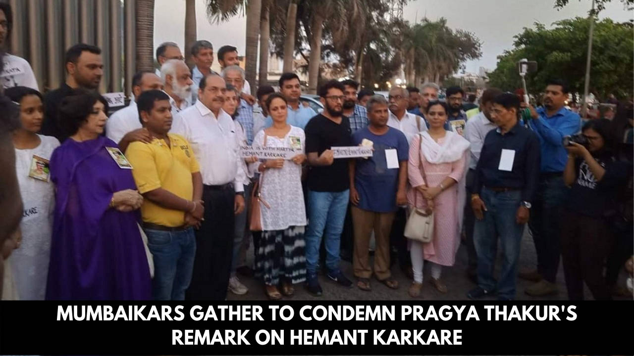 Mumbaikars gather at 26/11 memorial to condemn Pragya Thakur's remark on Hemant Karkare