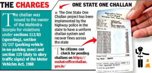 Pune traffic cops recover Rs 11,800 fines from Mumbai vehicle   Pune