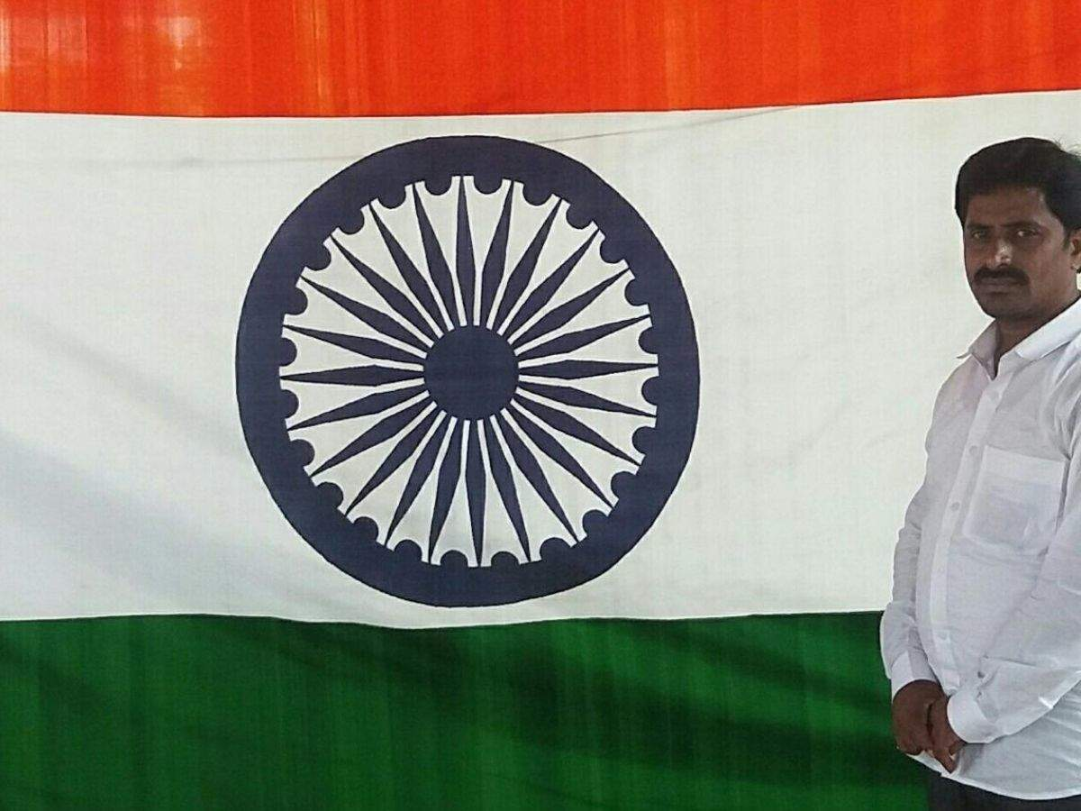 Flag of hope: Andhra man sells off house to weave Tricolour