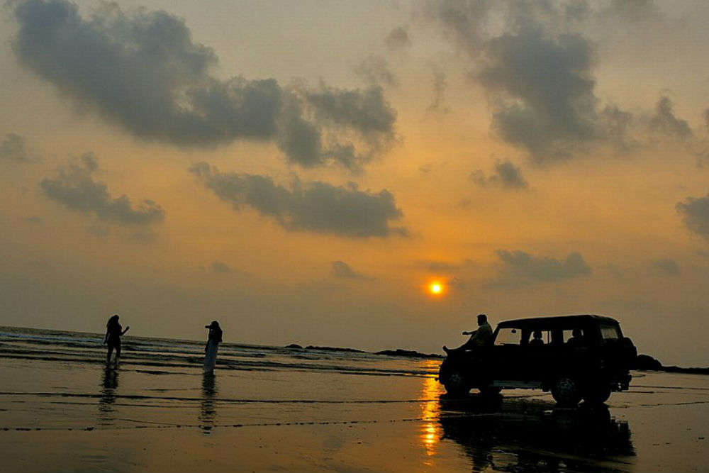 Feel like a hero at India's only drive-in beach, Muzhappilangad Beach, Kerala