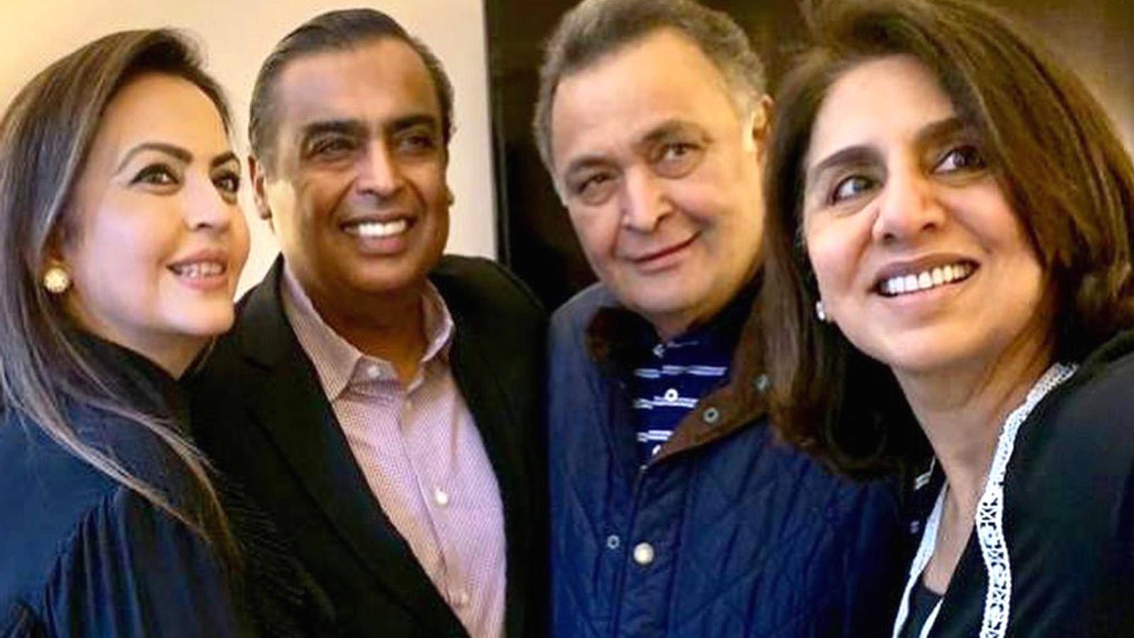 Nita Ambani and Mukesh Ambani visit Rishi and Neetu Kapoor