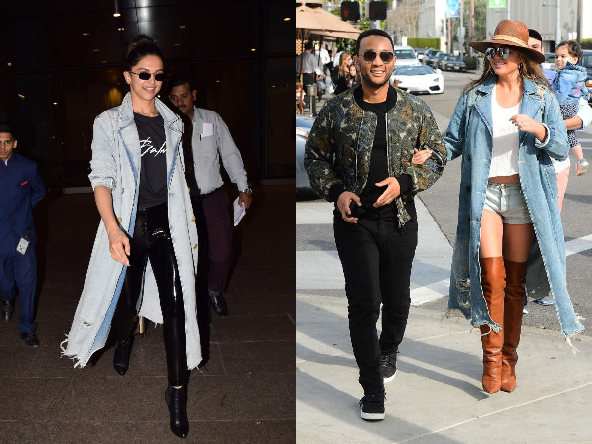 Deepika Padukone And John Legend S Wife Wore A Similar Jacket By The Same Designer Times Of India