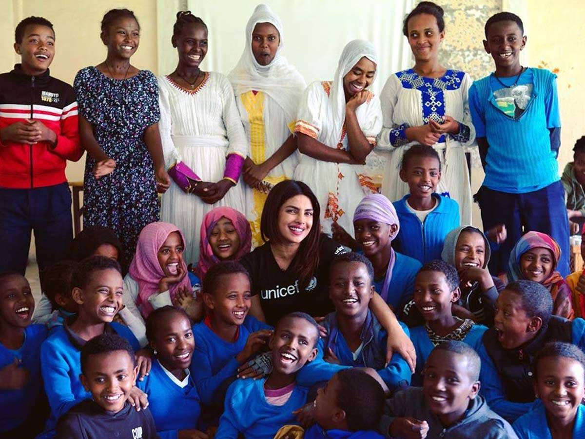 After making stunning appearances at Cannes 2019, Priyanka Chopra visits Ethiopia as UNICEF's Goodwill Ambassador
