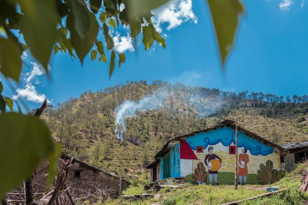 This ghost village in Uttarakhand is more colourful than the most vivid imagination