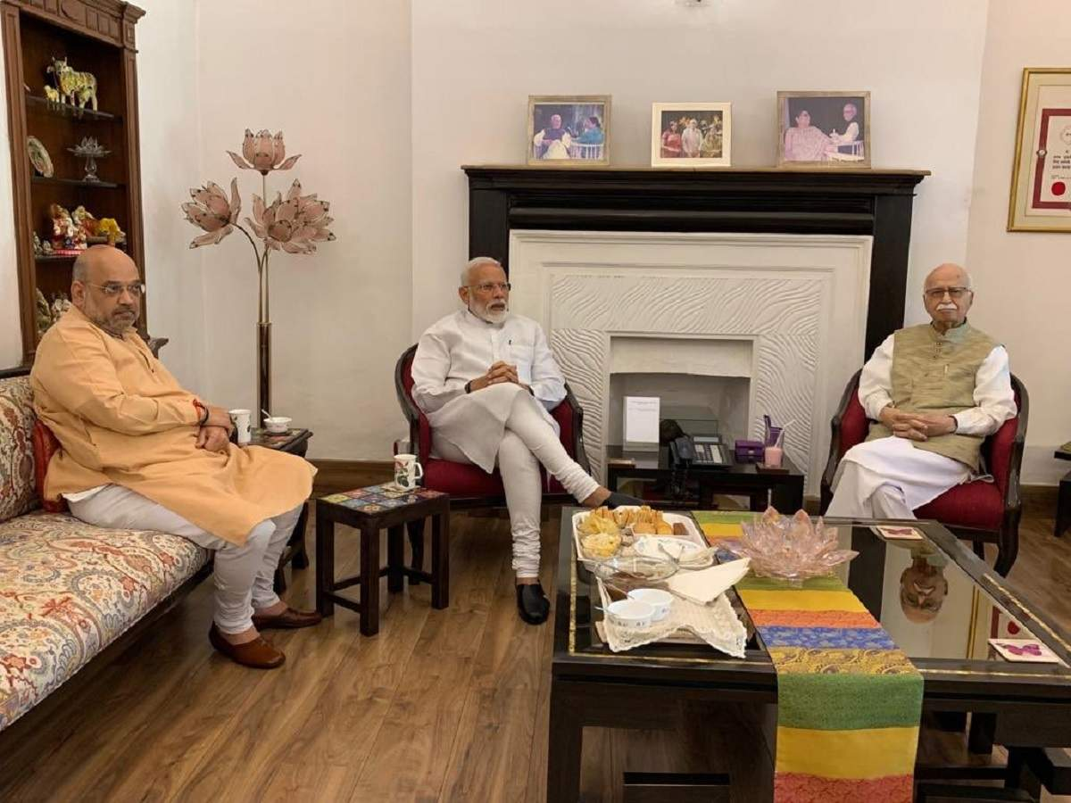 Lok Sabha election results: PM Modi, Amit Shah meet BJP veterans LK Advani, M M Joshi