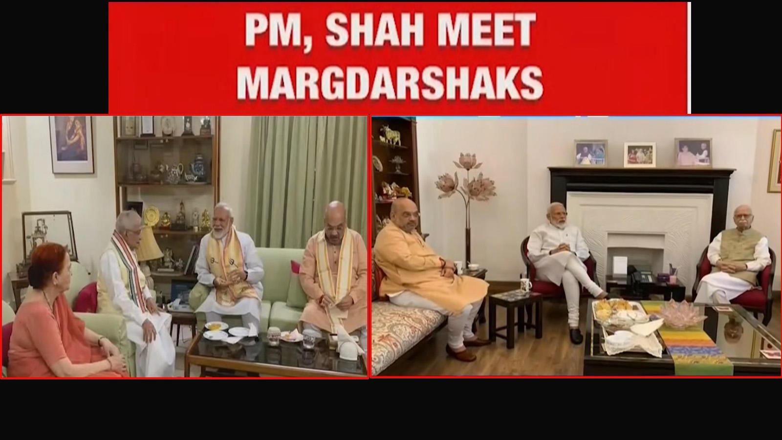 pm-modi-amit-shah-meet-margdarshaks-lk-advani-and-mm-joshi