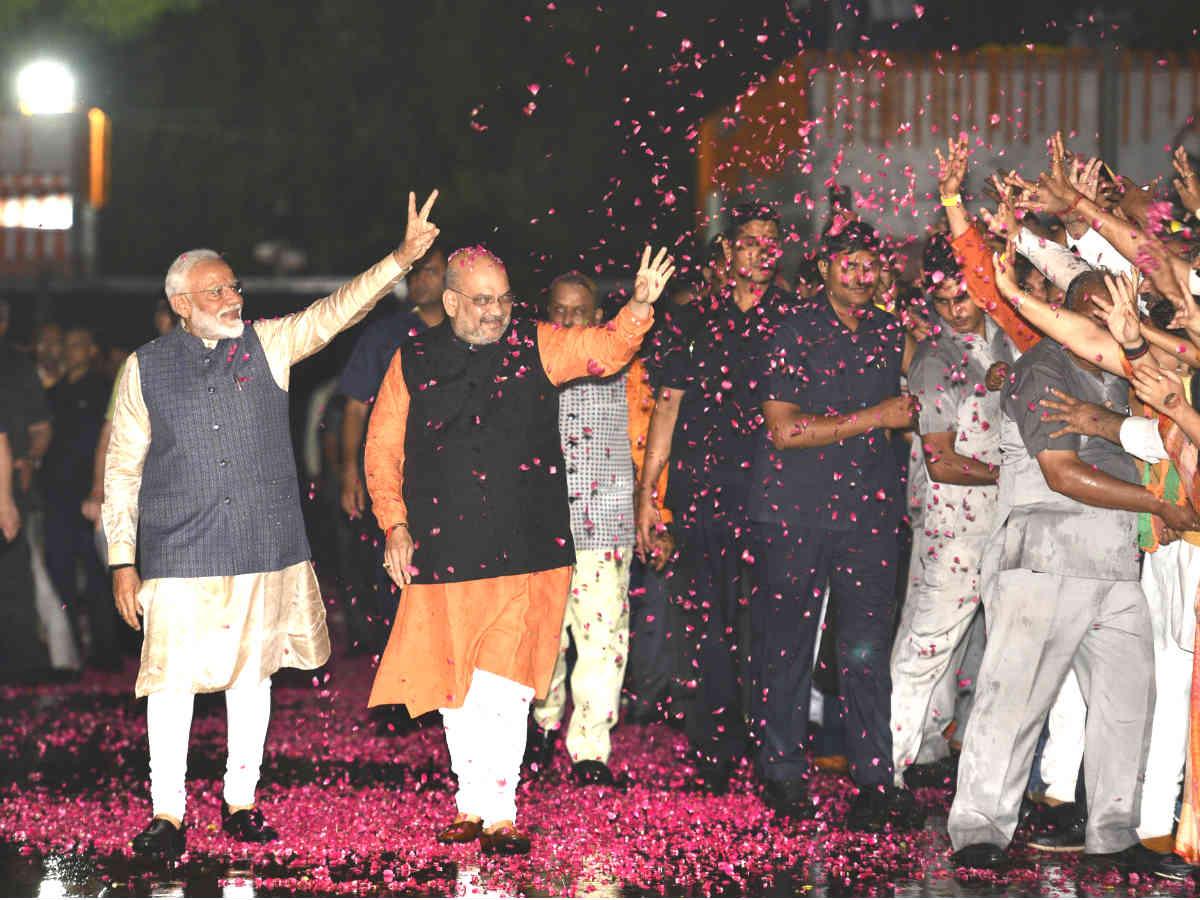61/65: BJP score in three Hindi heartland states that Congress won five months ago