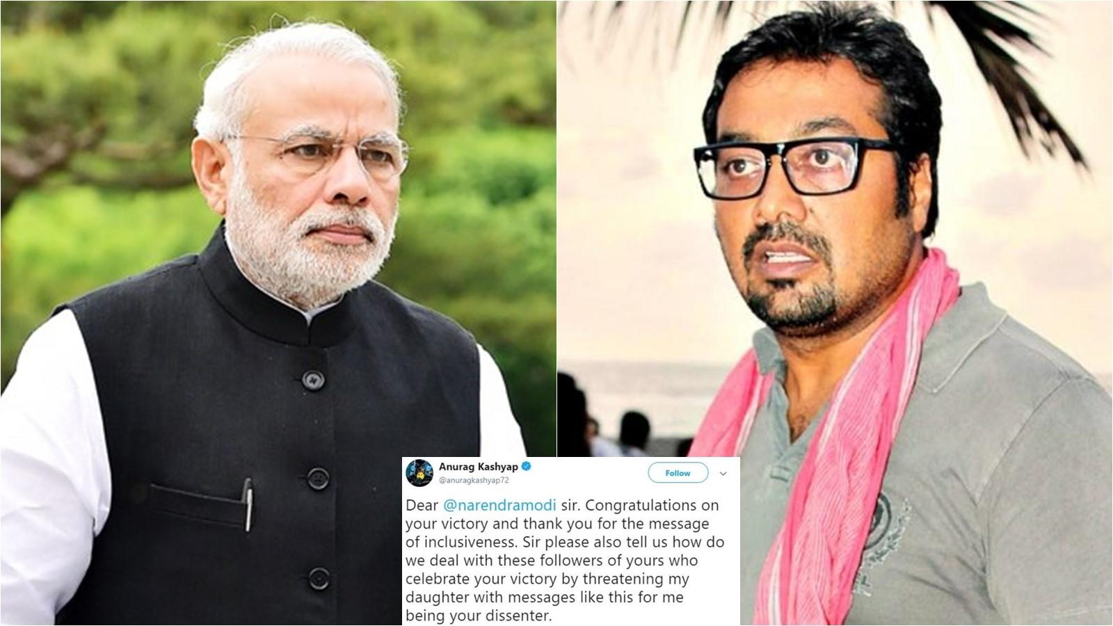 anurag-kashyap-complains-to-pm-narendra-modi-after-troll-threatens-daughter