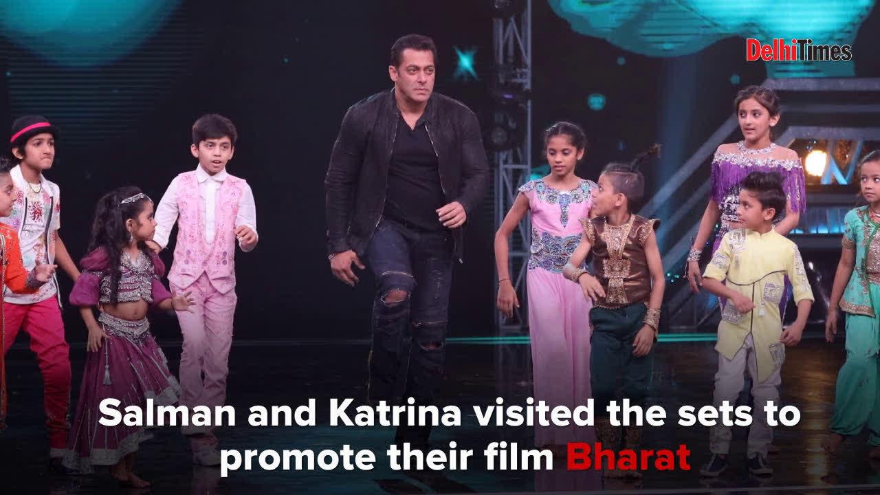 Salman Khan and Katrina Kaif on the sets of Super Dancer Chapter 3