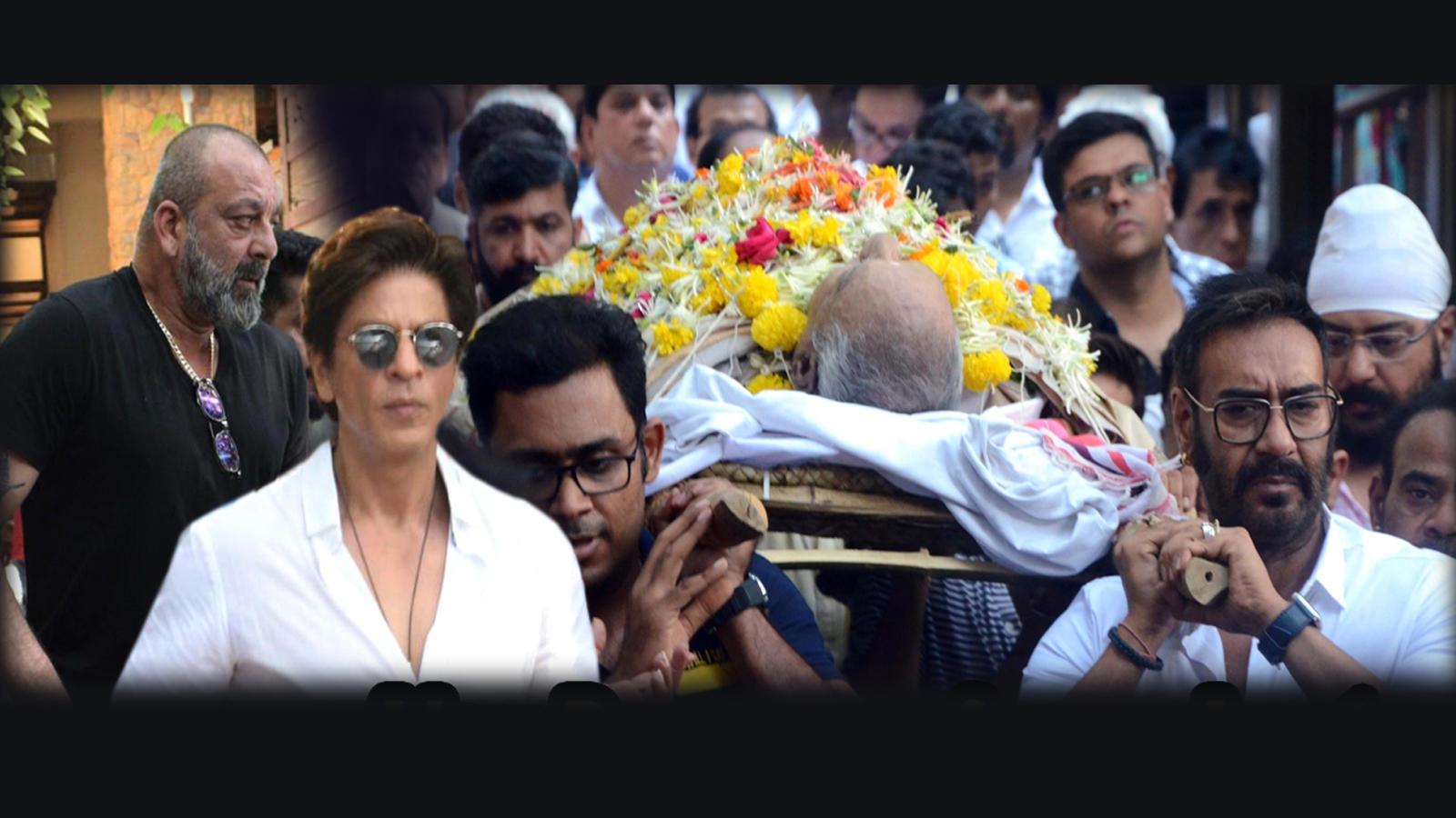 Ajay Devgn performs last rites of father Veeru Devgan, Bollywood bids  tearful adieu
