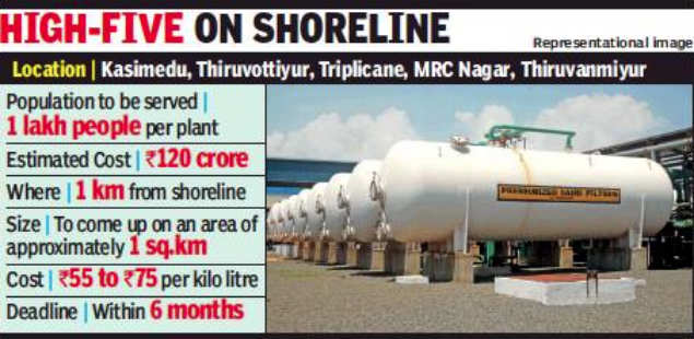 Mini-desalination plants to quench thirst of 5 lakh Chennai