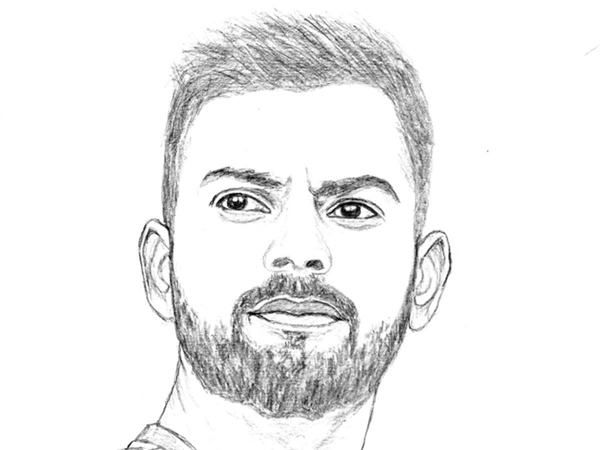 Icc world cup 2019 indian artist sketches portraits of all
