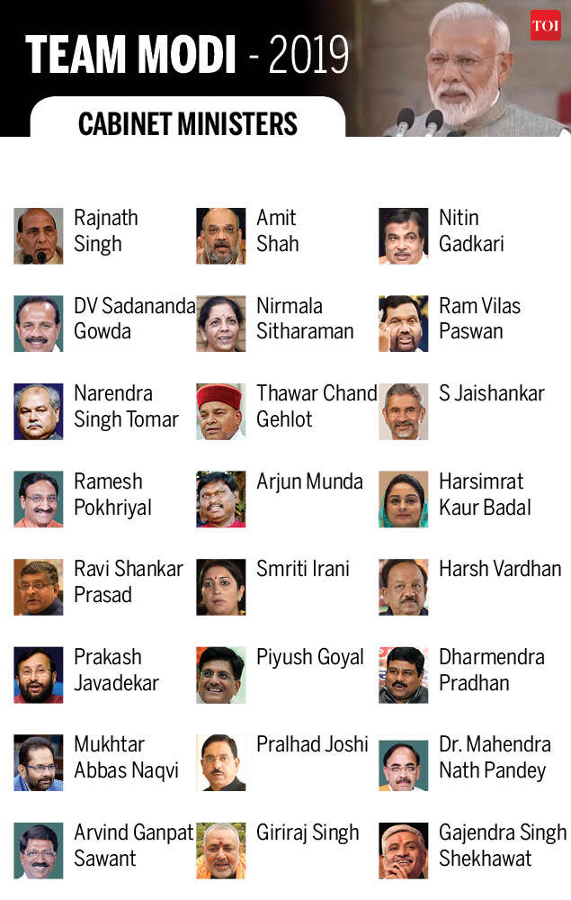 Cabinet Ministers of India 2019: These men and women will run India