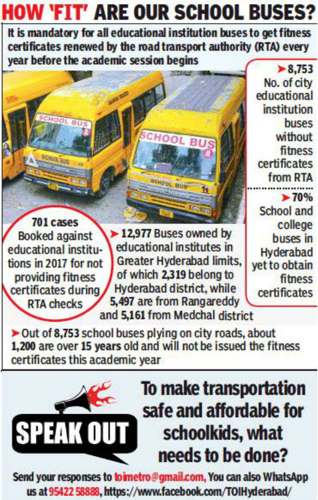 Hyderabad: Your child's school van may not be safe enough