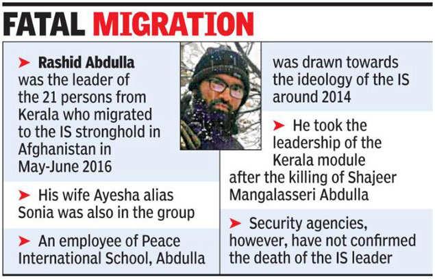 Rashid Abdulla: Leader of Kerala IS module 'killed by the US