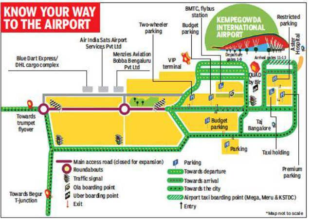 kolkata airport terminal map Part Of Kia Main Road To Be Closed For 2 Years From June 10 kolkata airport terminal map