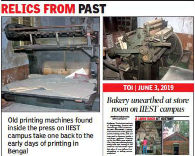 On restoration drive, IIEST stumbles upon 195-year-old press