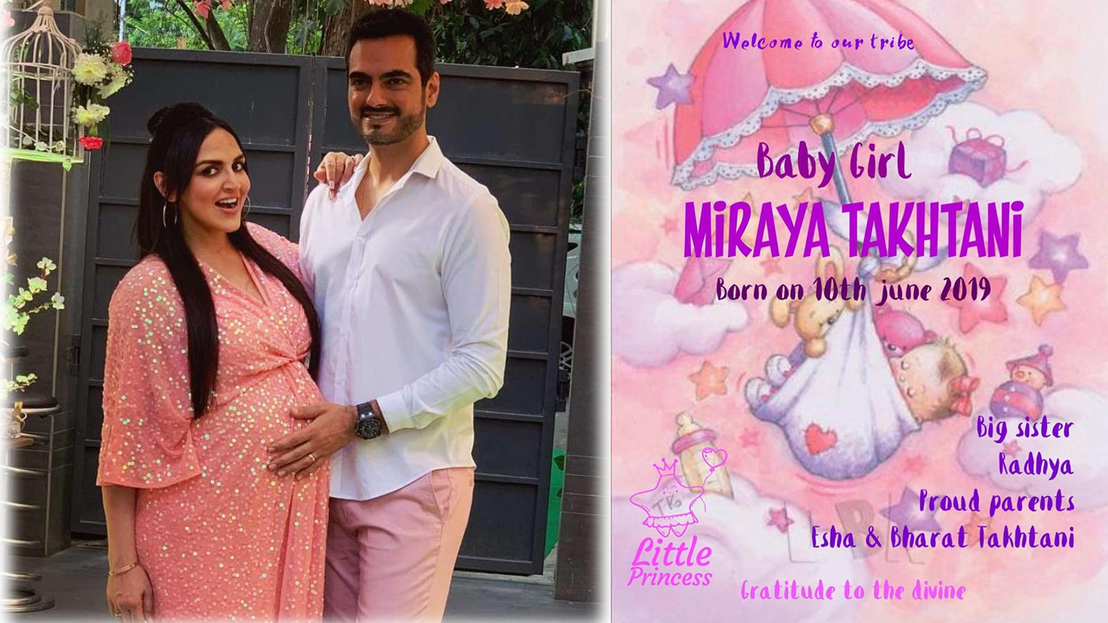 Welcome to our tribe! Esha Deol blessed with a baby girl