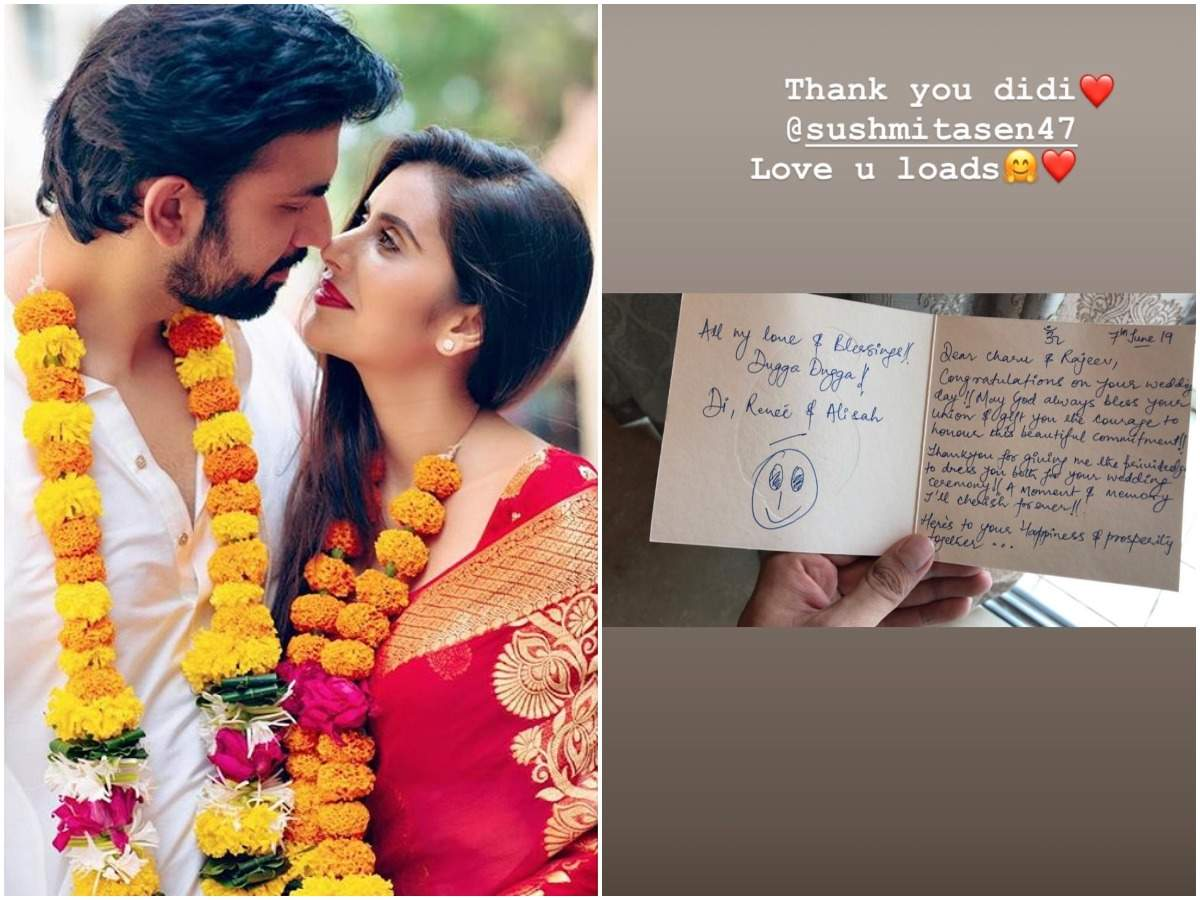 Mere Angne Mein's Charu Asopa receives a sweet note from sister-in