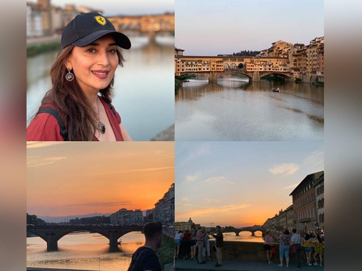 In pic: Madhuri Dixit Nene spends a beautiful evening in Florence - Times of India