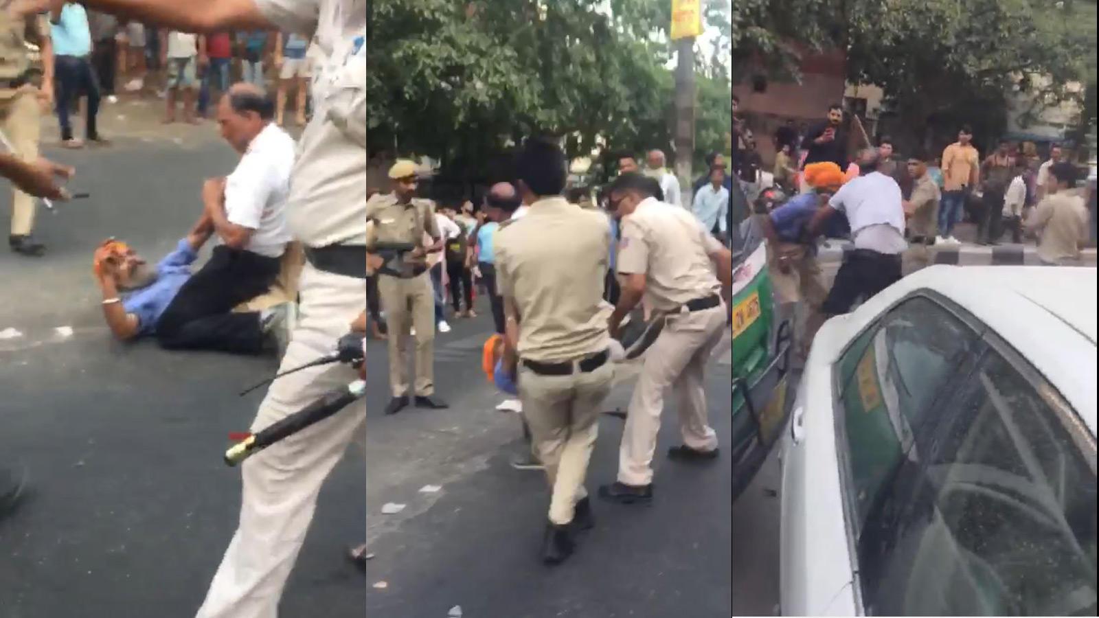 Cops clash with mini-bus driver in north Delhi's Mukherjee Nagar