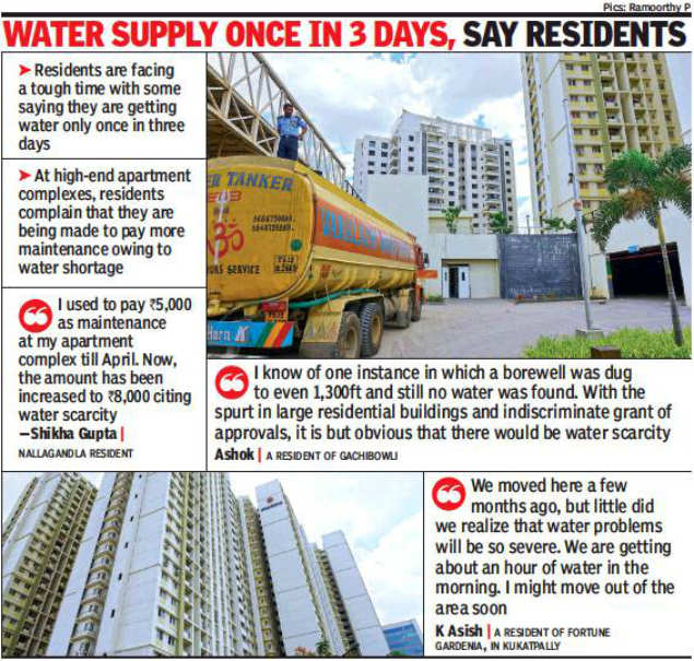 Hyderabad's IT and education hub stares at severe water
