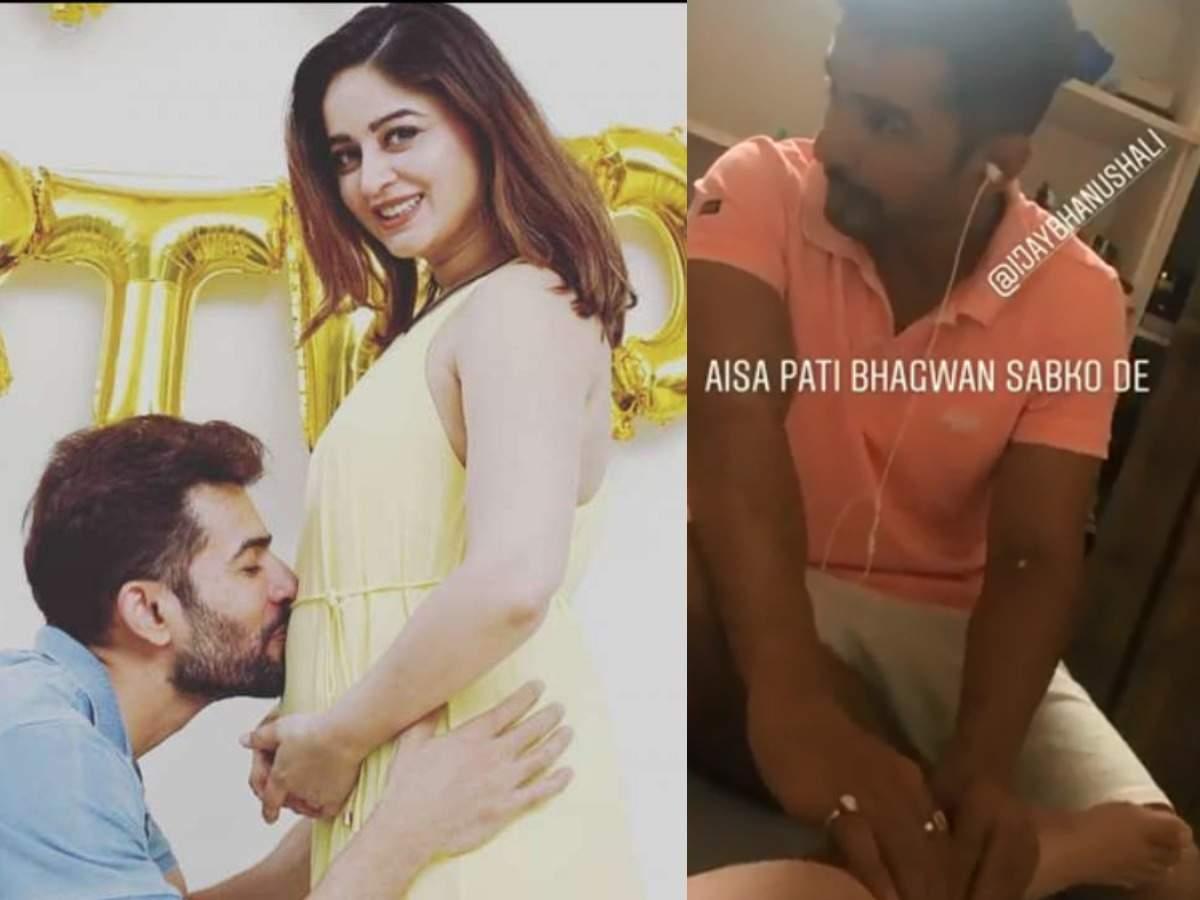 jay bhanushali pampers pregnant wife mahhi vij massages