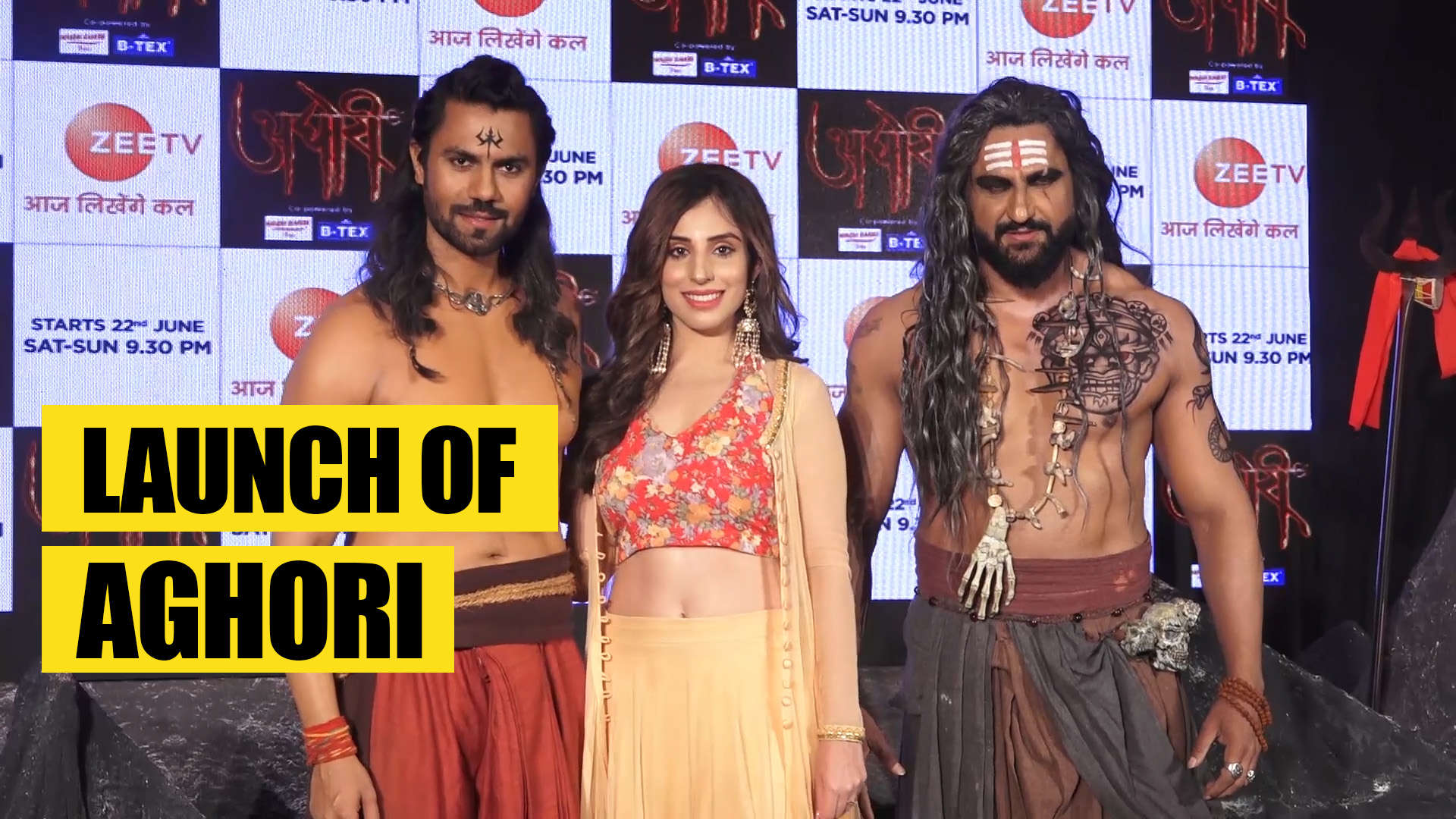 Gaurav Chopraa, Parag Tyagi and Simran Kaur at the launch of Aghori