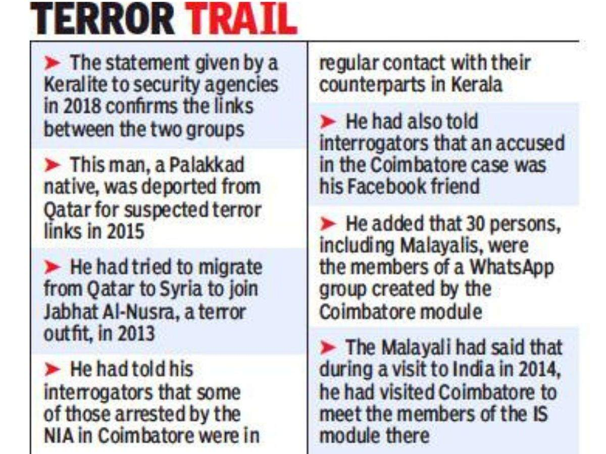 IS module in Tamil Nadu has links with Kerala terror groups