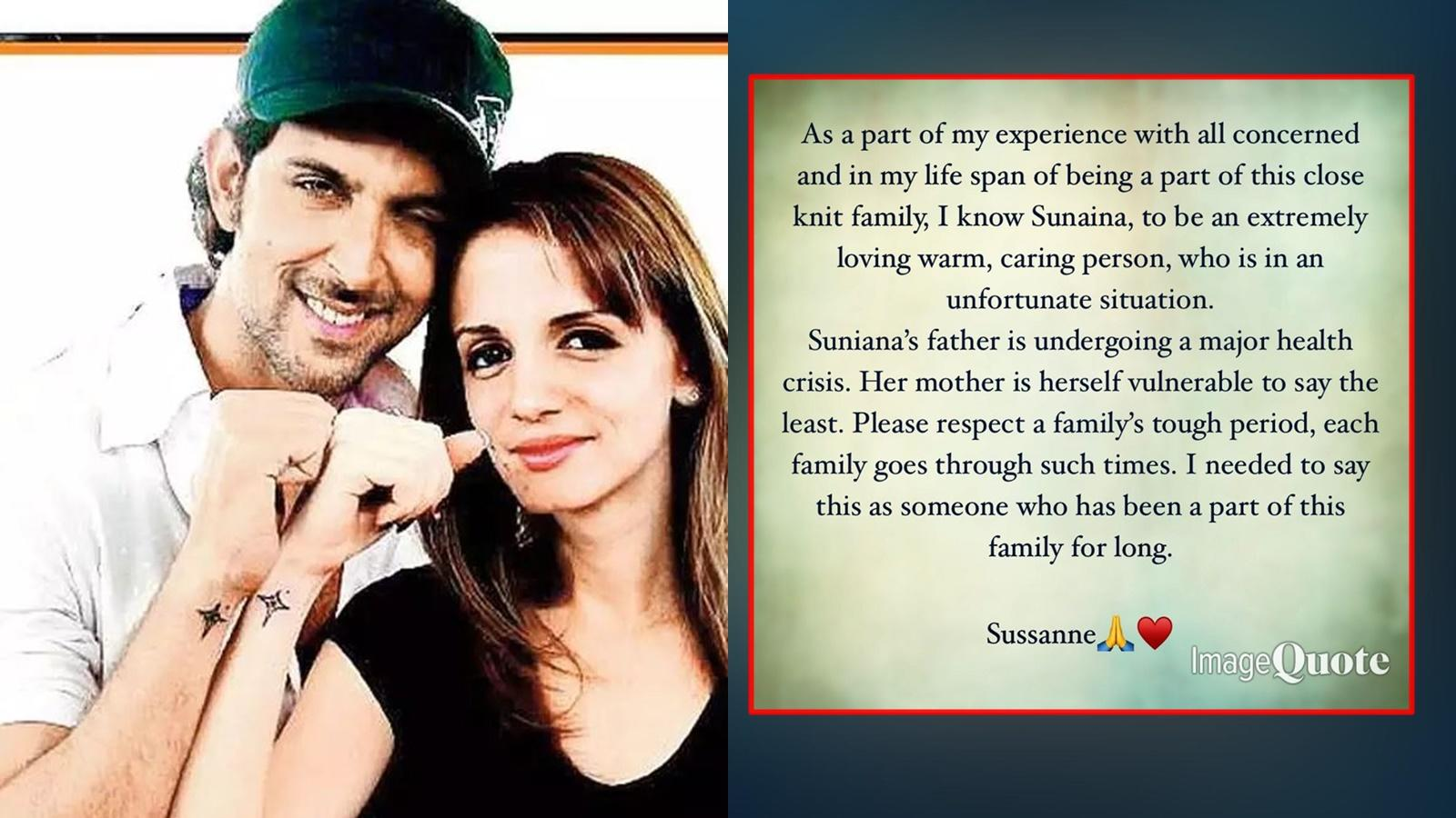 Sunaina Roshan controversy: Sussanne Khan speaks up in support of ex-hubby  Hrithik Roshan's family