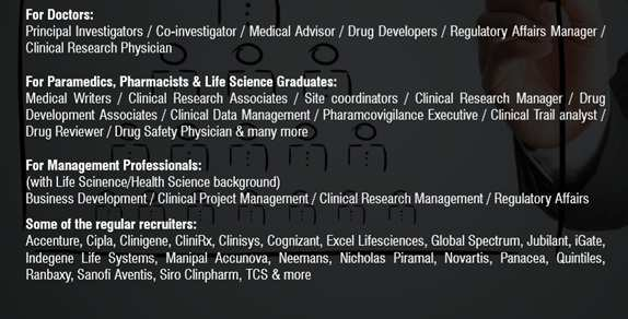 2 5 Lac jobs worldwide await you in clinical research