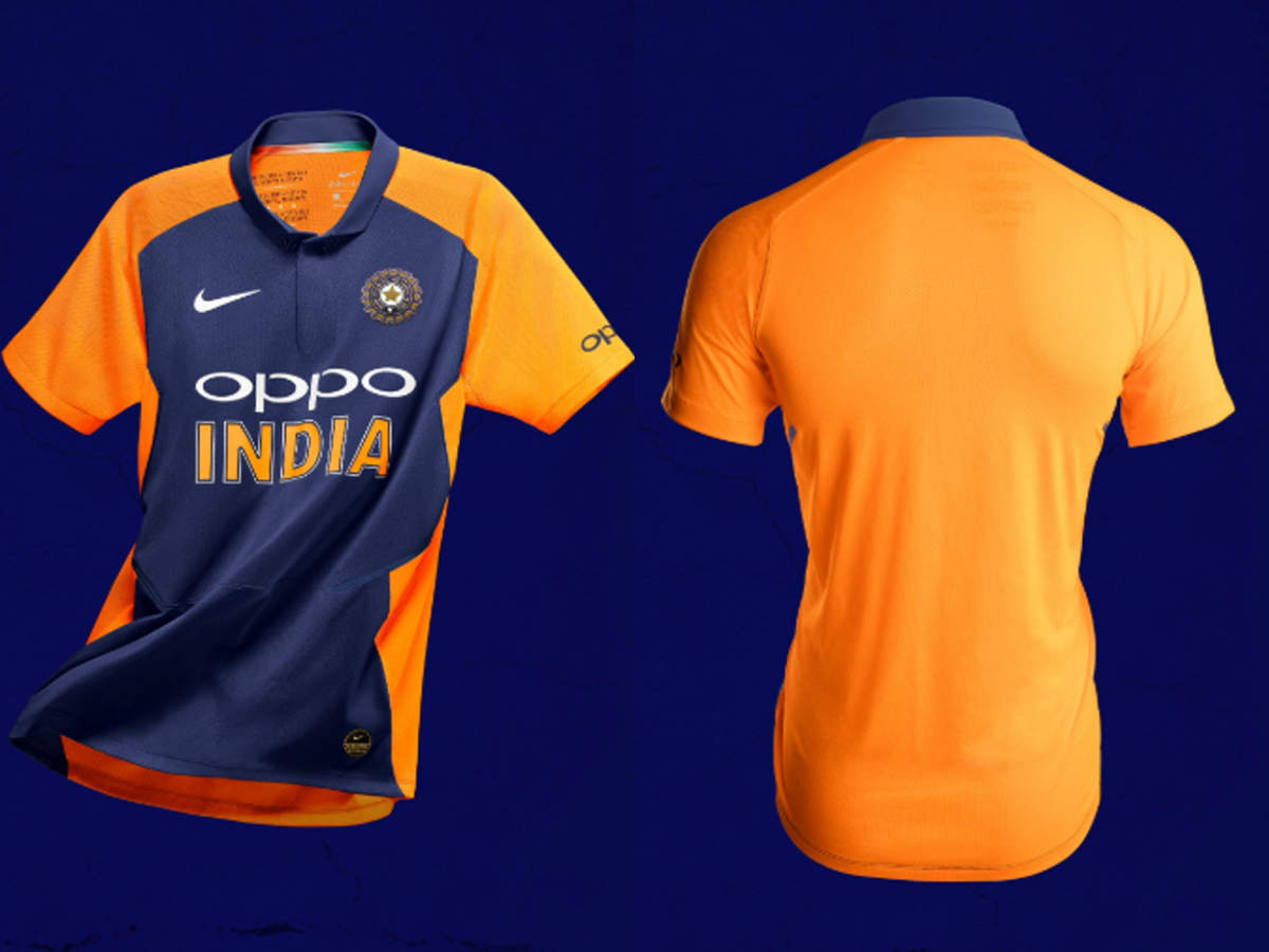 India Team ODI Cricket Player Oppo Jersey|Tshirt 2019 National Indian World Cup