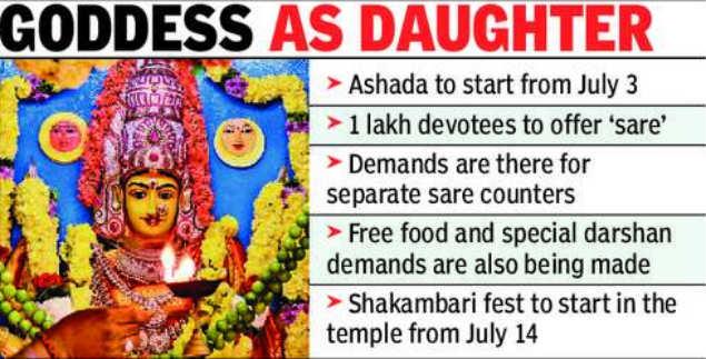 Kanaka Durga temple gears up for Ashada Masam festival