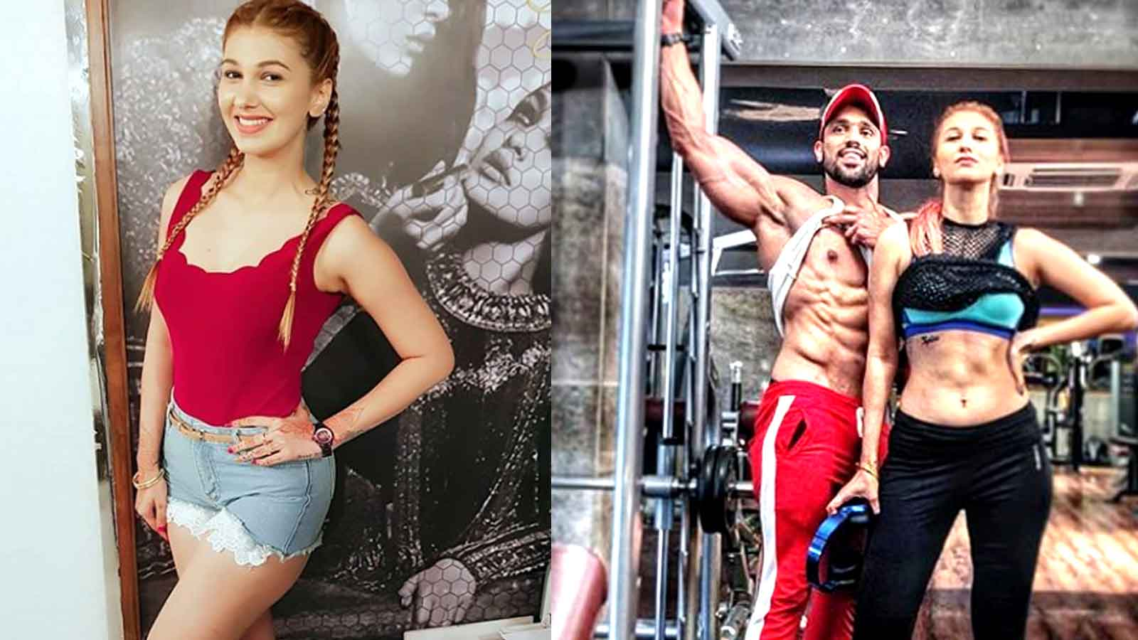 'Bigg Boss 12' famed Jasleen Matharu and Shivashish Mishra flaunt abs, say  they are a 'fitness couple'