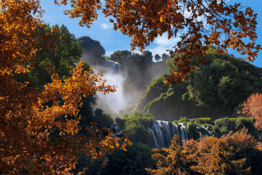 Postcards from Cascata delle Marmore, a waterfall made by the Romans
