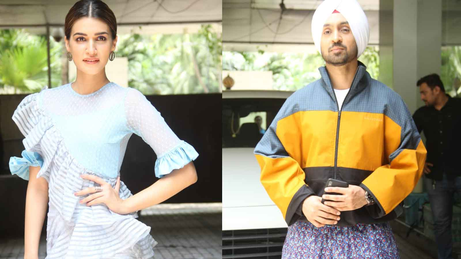 kriti-sanon-diljit-dosanjh-promote-upcoming-film-arjun-patiala