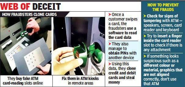 Chennai: Card-cloning racket busted, 3 held | Chennai News - Times