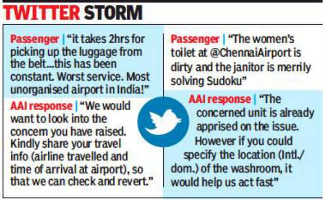Tweeple flood AAI with complaints | Chennai News - Times of India