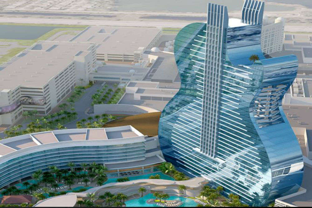 Welcome to the first guitar-shaped hotel in the world!