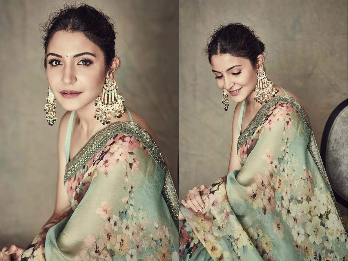 Anushka Sharma looks ethereal as she dons a chiffon saree in her latest Instagram photos | Hindi Movie News - Times of India