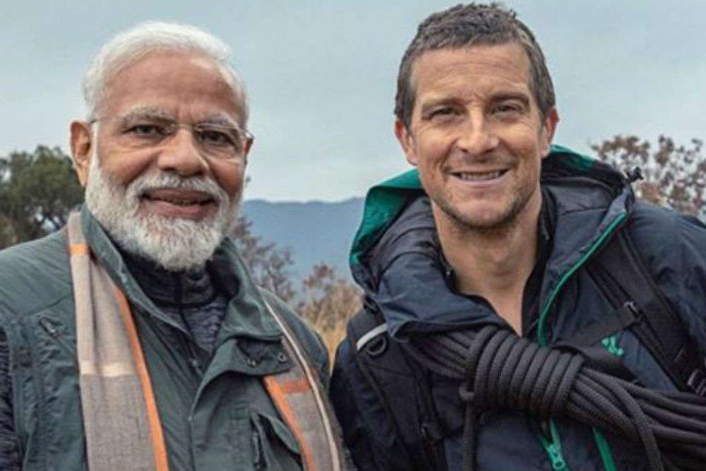 PM Modi turns into an adventurer with Bear Grylls of the Man Vs Wild fame